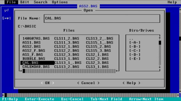 Opening gwbasic BAS file with MSDos Editor-VBForums
