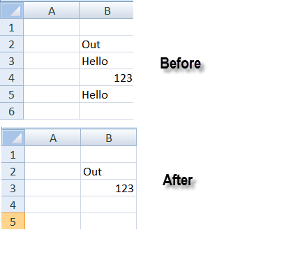 how to delete defined name in excel