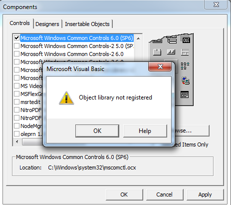 Object Library not registered-VBForums