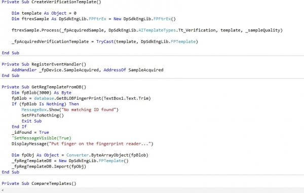 vs 2010 verification problem using digital persona platinum sdk