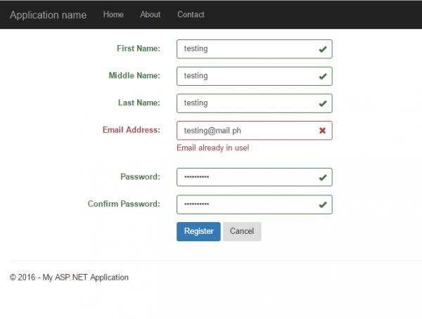 Asp Mvc 5 Form Validation Using Jquery And Bootstrap Without