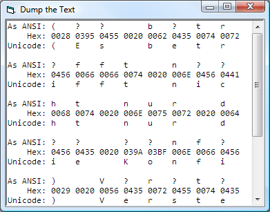 Unicode to ANSI converter (for VB6 standard TextBox)-VBForums
