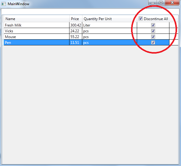 WPF DataGrid Check/Uncheck All Functionality-VBForums