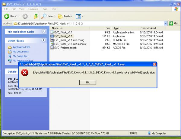 php is not a valid win32 application windows xp