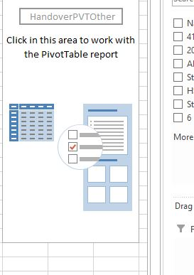 Excel 2013  Creating a Pivot Table based on data in another