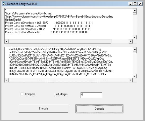 VB - Fast Base64 Encoding and Decoding-VBForums