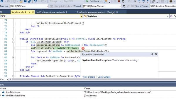 VS 2017 [RESOLVED] Serialization of a Windows Form State