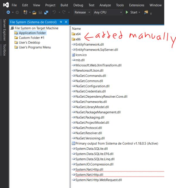 RESOLVED] Unable to load DLL 'SQLite Interop dll' outside VS