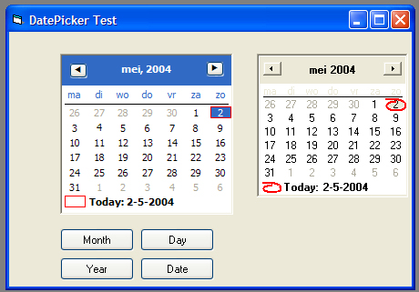 DateTimePicker XP Style In VB6-VBForums