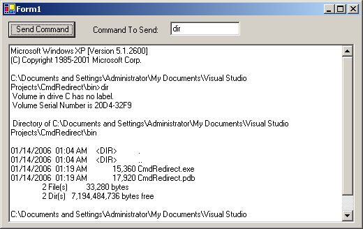 Automate Command Prompt Window (CMD), Redirect Output to Application