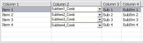 Edit a listview subItems with a combobox?-VBForums