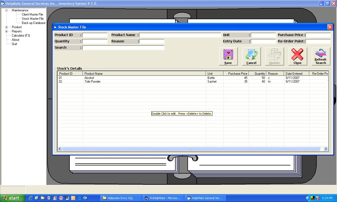 database inventory system