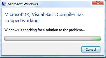 2005] [2008] Visual Basic Compiler has stopped working-VBForums