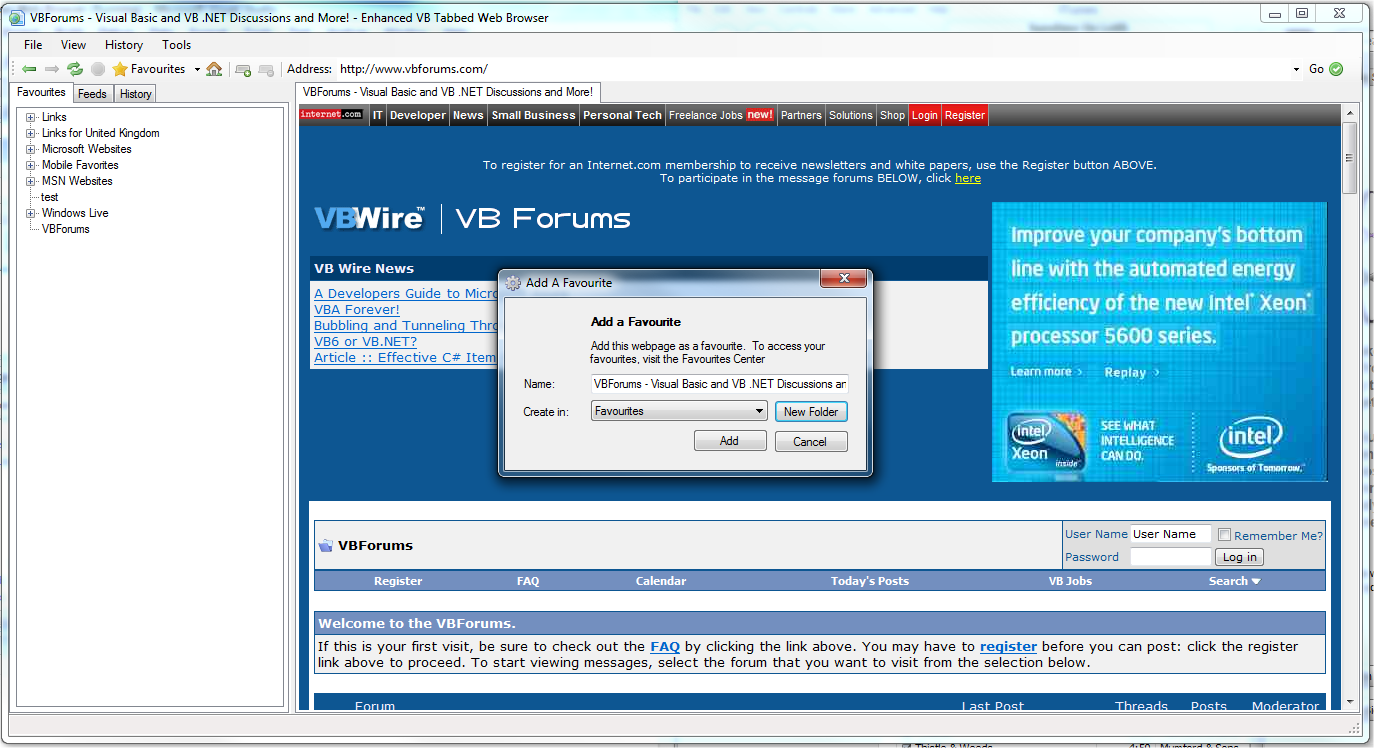 Enhanced VB Tabbed Web Browser-VBForums