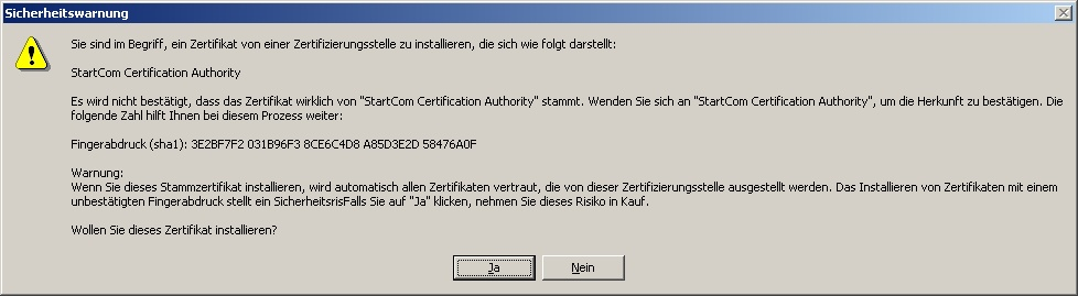 command to install .cer certificate on client-VBForums
