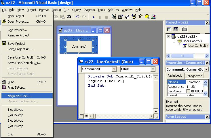 Making ActiveX control for Excel 2003-VBForums
