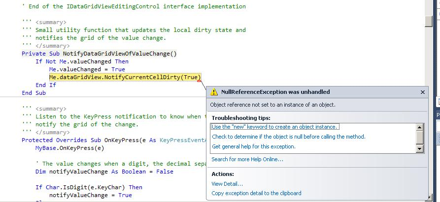 object reference not set to an instance of an object-VBForums
