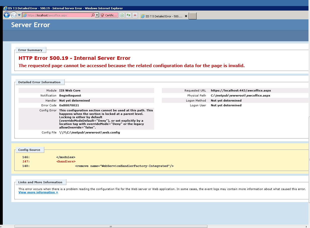 RESOLVED] Migrating to an IIS7 machine-VBForums