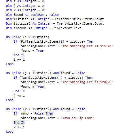 Check if Items are in a List Box Using Do While Loops-VBForums