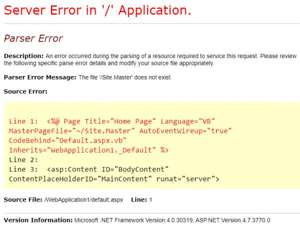 Name:  Add CustomErrors and Removed Compile.jpg Views: 50 Size:  41.3 KB